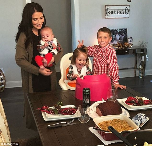 Not having it: Bristol Palin took aim at what she sees as the disparate treatment of sexual harassment and assault allegations made by conservative victims versus liberals (Bristol and her three children over Thanksgiving)