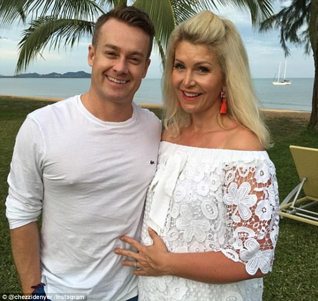 Toughen network: Chezzi has also been relying on the give a take hold of to of her appreciated husband Grant, to receive her via such tough cases