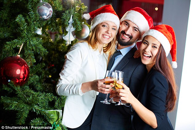 According to a survey by Chicago-based consulting company Challenger, Gray & Christmas, only 49 per cent of companies plan to serve alcohol at their holiday events (file image) amid the series of high-profile workplace sex scandals