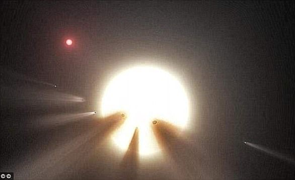 The star, also known as KIC 8462852, is located at 1,400 light-years away and has baffled astonomers since it was discovered in 2015 (artist & # 39; s impression)