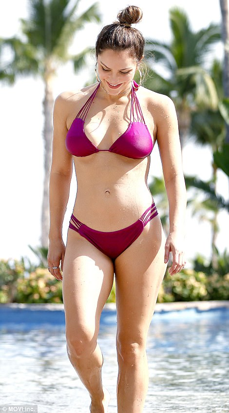Katharine McPhee Models Bikini In Mexico Daily Mail Online