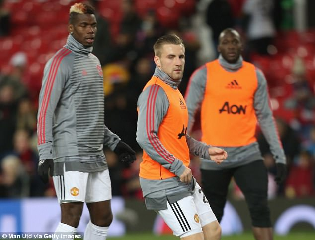 Shaw started for United in their Champions League clash with CSKA Moscow on Tuesday