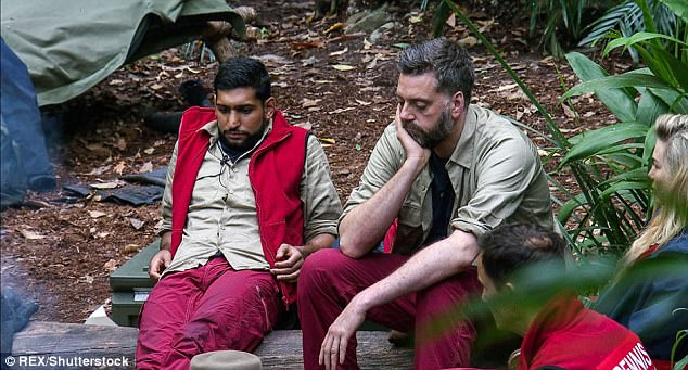 Unfair: Amir had previously passed the blame onto Iain during strawberry-gate - insisting the comedian had suggested eating the treats instead of sharing them with camp when it had been Amir instigating it from the beginning