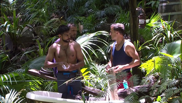 Uncalled for: The trio came under fire following a conversation they'd had on Tuesday night's episode of the show, where they spoke away from camp about Dennis' latest Bushtucker Trial that Iain had previously struggled with