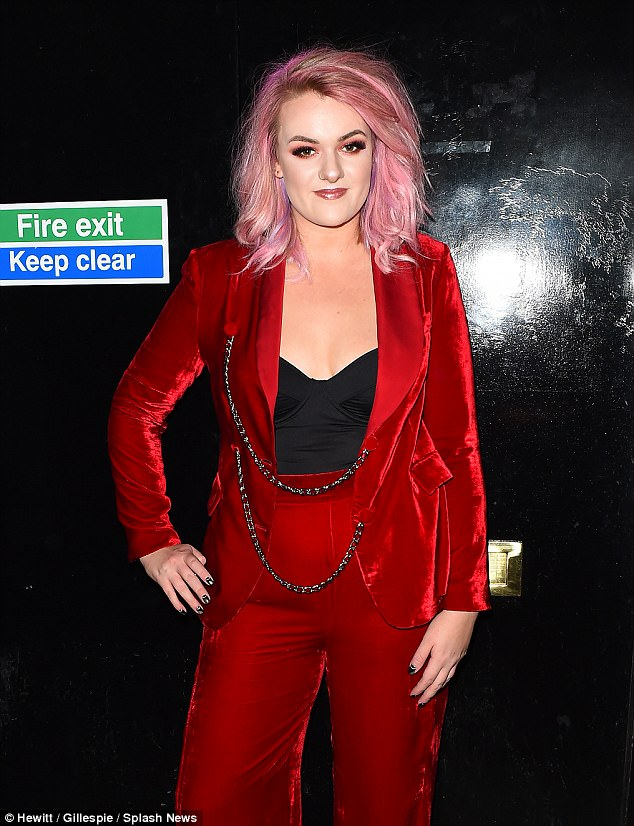 Bouncing back: X Factor runner up Grace Davies put on a brave face after her loss