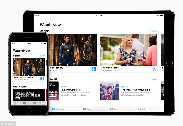 Apple is also adding support for live sports, with participation from ESPN, the NBA, and Turner Sports