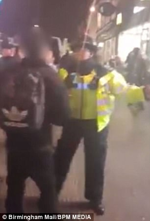 Footage shows police battling to control the group of teens who gathered in West Bromwich