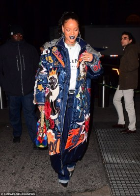 Bling it on! Rihanna flashed a diamond ring on her wedding finger when she stepped out in New York City on Wednesday