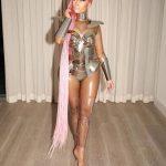 Nicki Minaj In Braids and Game of throne Inspired costume