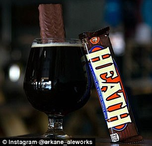 They had Snickers and Heath bar beers too