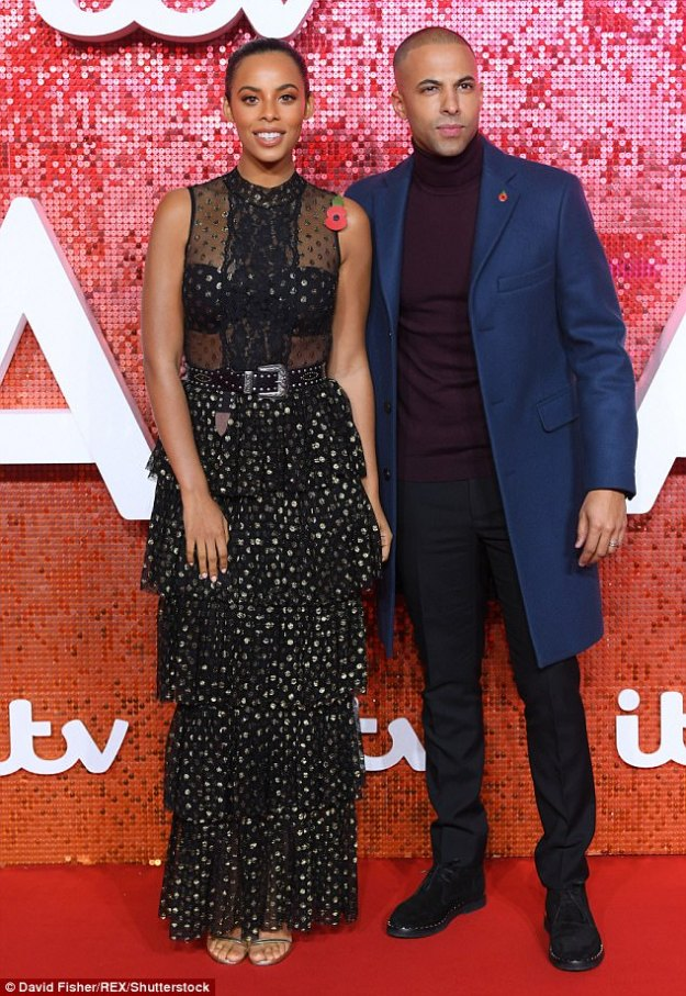Hot couple:Marvin Humes has revealed that he would consider having a third child, and that he would love a son, but believes he and glamorous wife Rochelle are 'destined' to welcome a brood of girls
