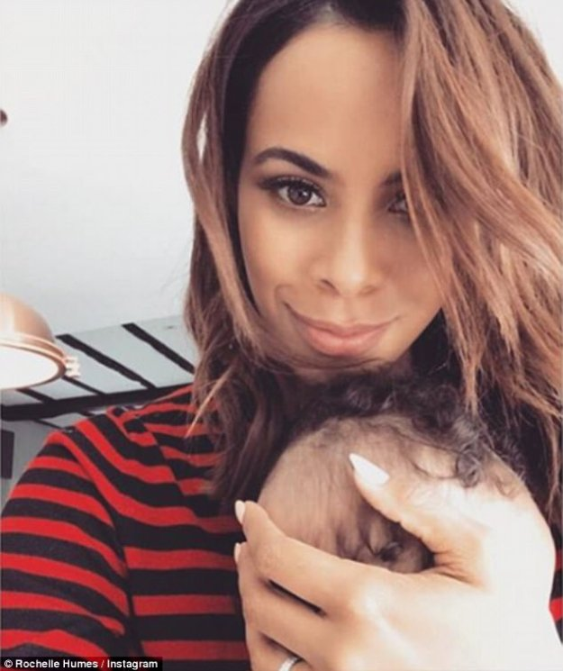 Motherhood magic:Rochelle recently confessed to OK! Magazine that she dreads the day when her newest arrival doesn't depend on her as much, and that she would consider adding another baby to her family with Marvin