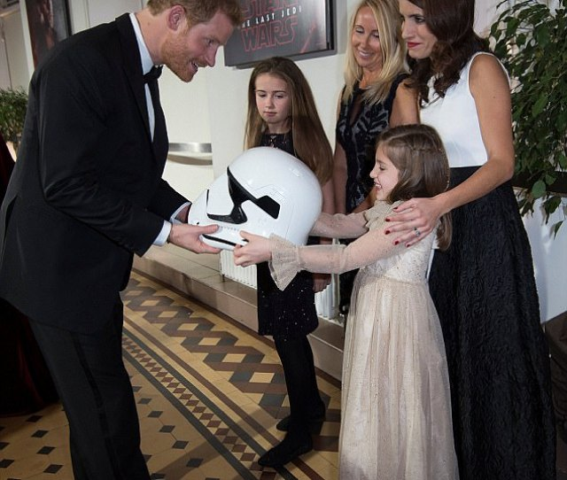 The Princes Got Their Dream Come True Tonight Whenthey Were Each Given A Stormtrooper Helmet Of