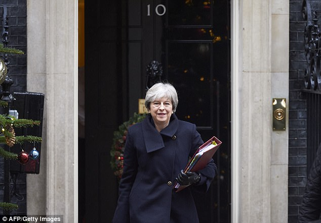 It was Theresa May's (pictured leaving No 10) first defeat on legislation and a damaging blow to her ailing authority
