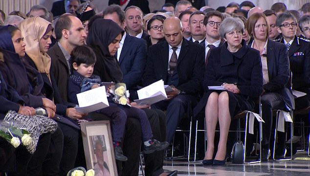 The Prime Minister was at a memorial for the Grenfell tragedy at St Paul's today