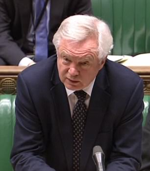 David Davis warned the rebels they had 'compressed the timetable' for Brexit by forcing through an amendment to the flagship EU Withdrawal Bill