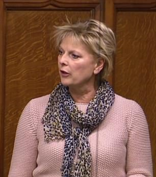 Former minister Anna Soubry angrily denied heckles in the Commons today over alleged celebrations of the PM's setback