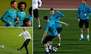 Резултат со слика за Real Madrid boss Zidane welcomes return of 'happy' Bale before Club World Cup Final