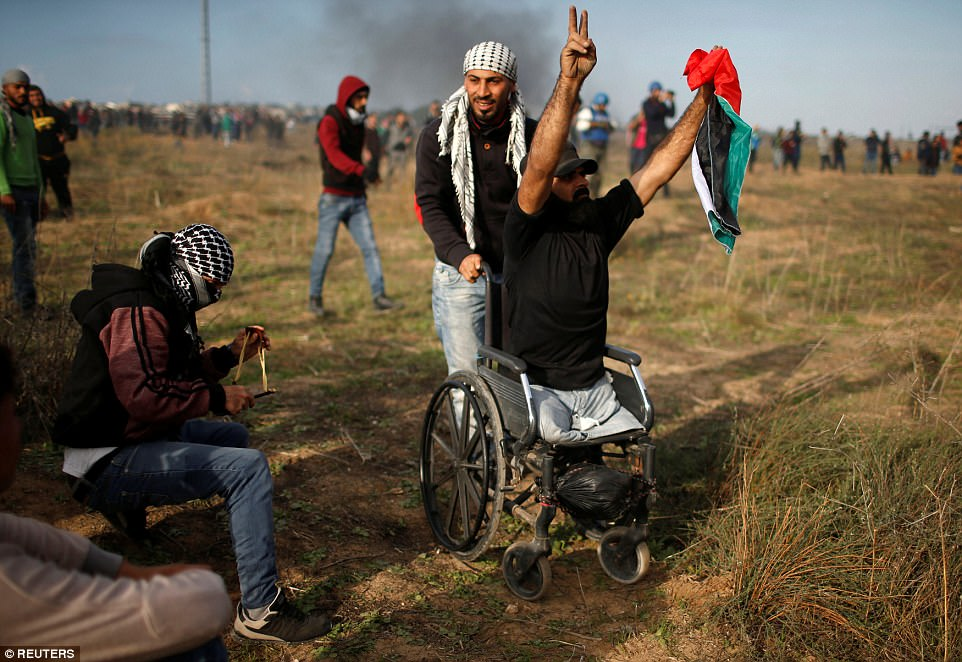 Abu Thurayeh, who had previously lost both his legs, was shot along the border east of Gaza City in the north of the Palestinian enclave, the Palestinian health ministry said, shortly after another man was killed in similar circumstances