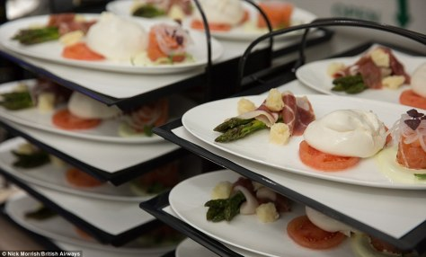 Delicious: A number of dishes are readily presented to guests, who can select whatever takes their fancy