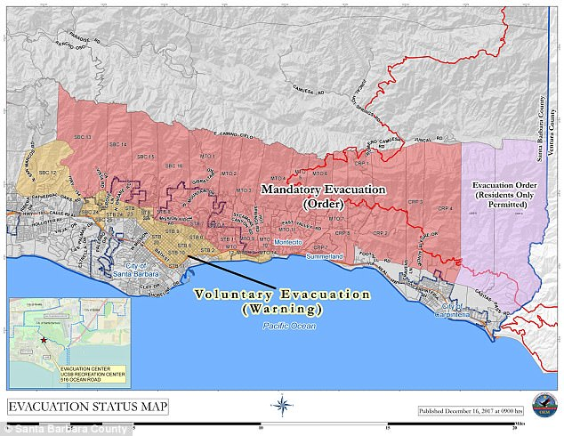 Evacuation Zones California