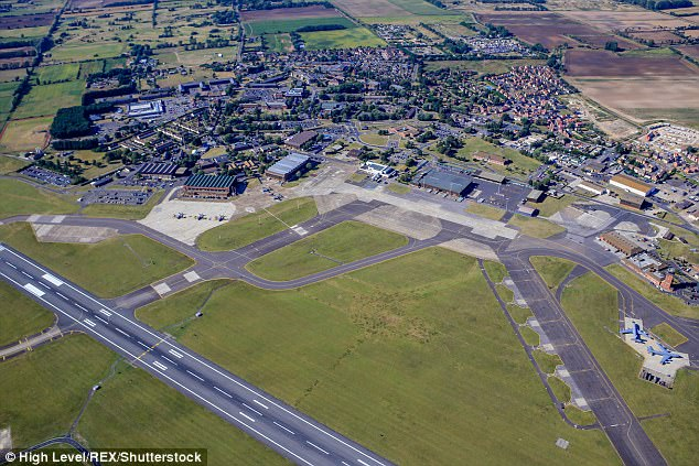 A defence source said a car tried to force its way into RAF Mildenhall in Suffolk (file picture)