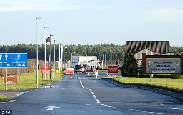 The Suffolk base of RAF Mildenhall has been used by the American military since 1950