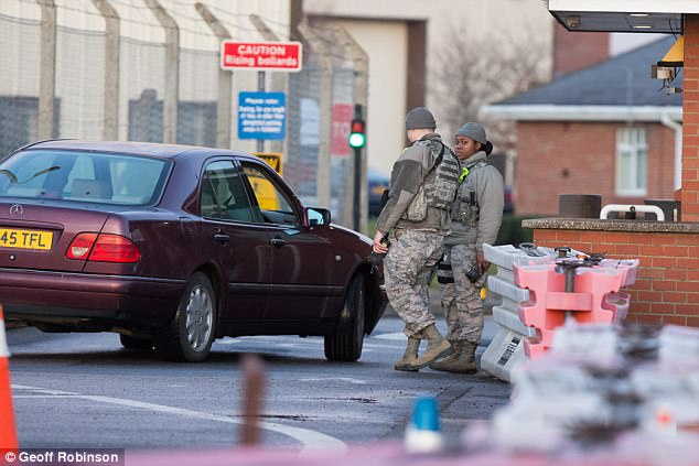 It has been claimed that the suspect is a British citizen who pretended to be someone he was not - possibly a senior military figure - to get through a checkpoint