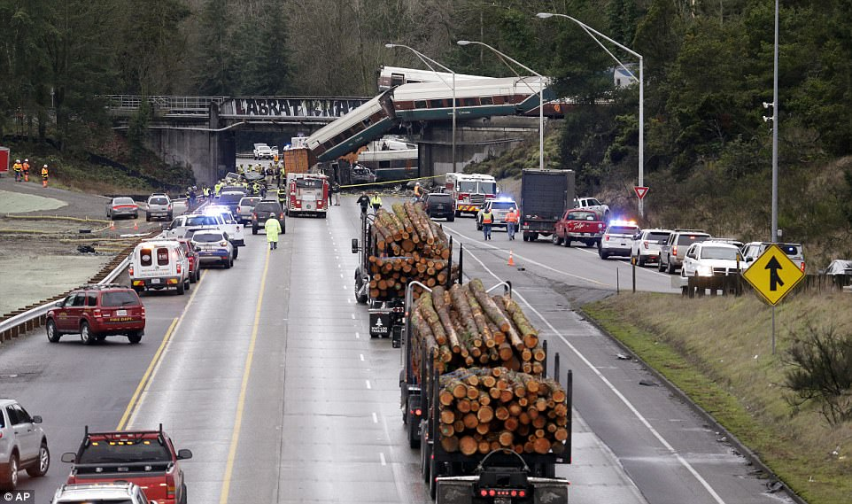 All southbound lands on I-5 have been shut down while local officials investigate