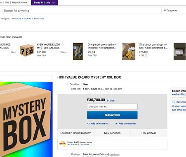 Someone Has Bid Over 35000 On Ebay For This Mystery Box Daily Mail Online