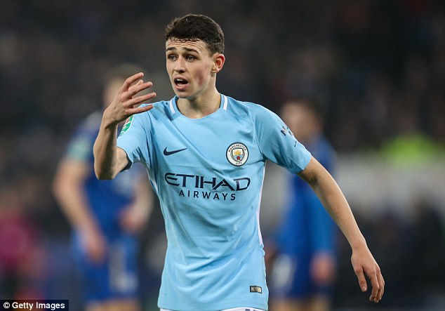 Youngster Phil Foden got a start for the Manchester City first-team in the Carabao Cup