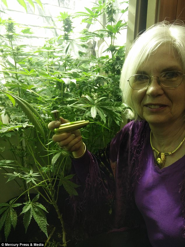 Ms Francey, who grows cannabis in her garden, exchanged her medication for marijuana