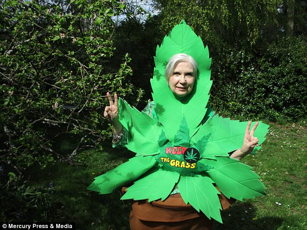 She began campaigning for cannabis legislation in Canada with the group 'Grannies for Green' after her son was caught smoking the drug and punished by being held back a year at school