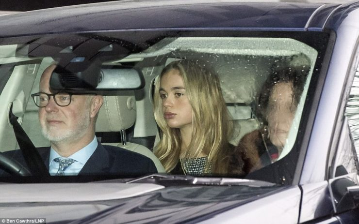 George Windsor, Earl of St Andrews, drove his elegant daughter to the event accompanied by his wifeSylvana Tomaselli