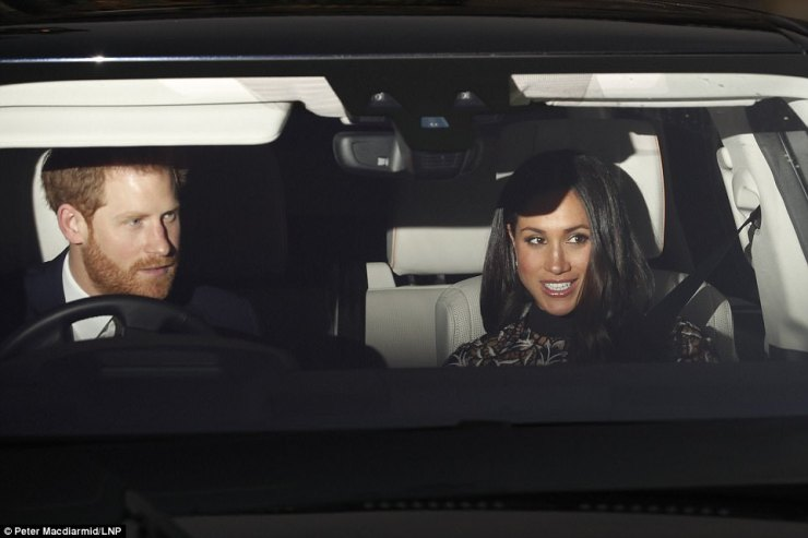 Today was the first time that Meghan will have met much of Harry's family, and the invitation is a further sign that she is well and truly part of the royal establishment