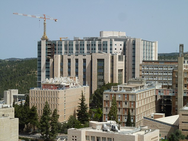 The unnamed 42-year-old was rushed to Hadassah Hospital Ein Kerem in Jerusalem (above) after going into labour on Wednesday
