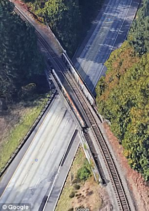 This came on the heels of news that a Washington state government plan called for the turn the train was traveling on (pictured) to be eliminated
