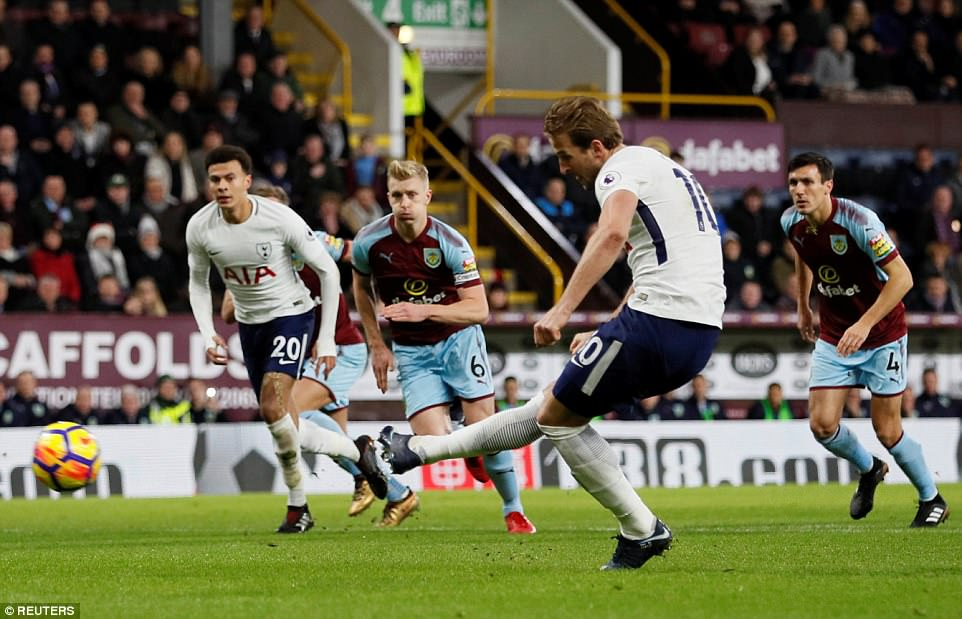 Spurs talisman Harry Kane stepped up and converted the spot kick confidently as Alli watched on from the edge of the box