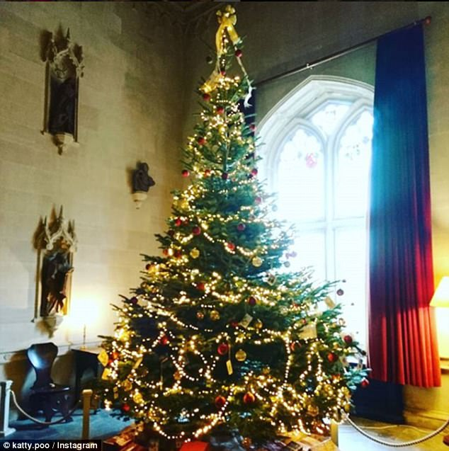 Grandeur: This tree is stunning with its red and gold decorations and twinkling fairy lights