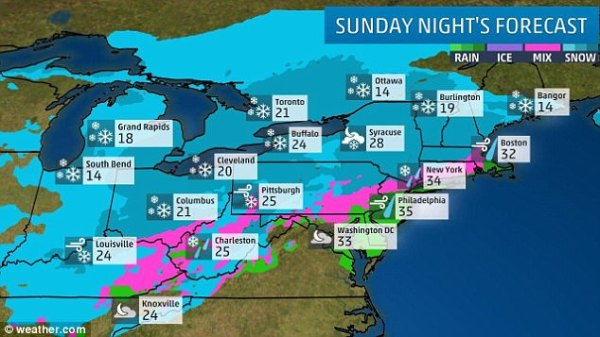Winter Storm Ethan to hit Northeast on Christmas Day