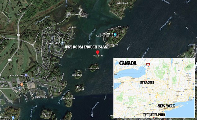 The tiny speck of land off Alexandria Bay in New York state has just enough room for a house and a tree – and that's it