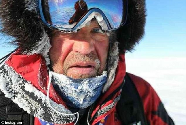 Robert walked 500km of the 1000km trip before returning to basecamp