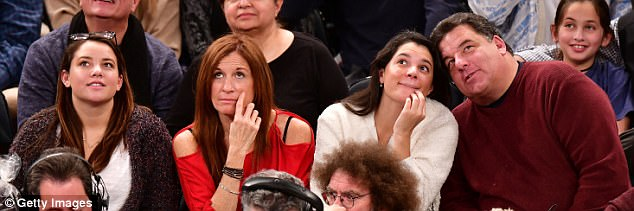 Looking up: Brooklyn native Steve Schirripa, 59, of The Sopranos also attended the game with his family