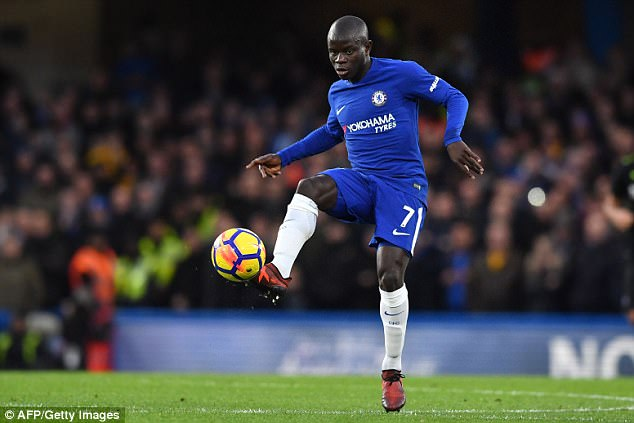 Kante has won back-to-back Premier League titles since arriving in England with Leicester