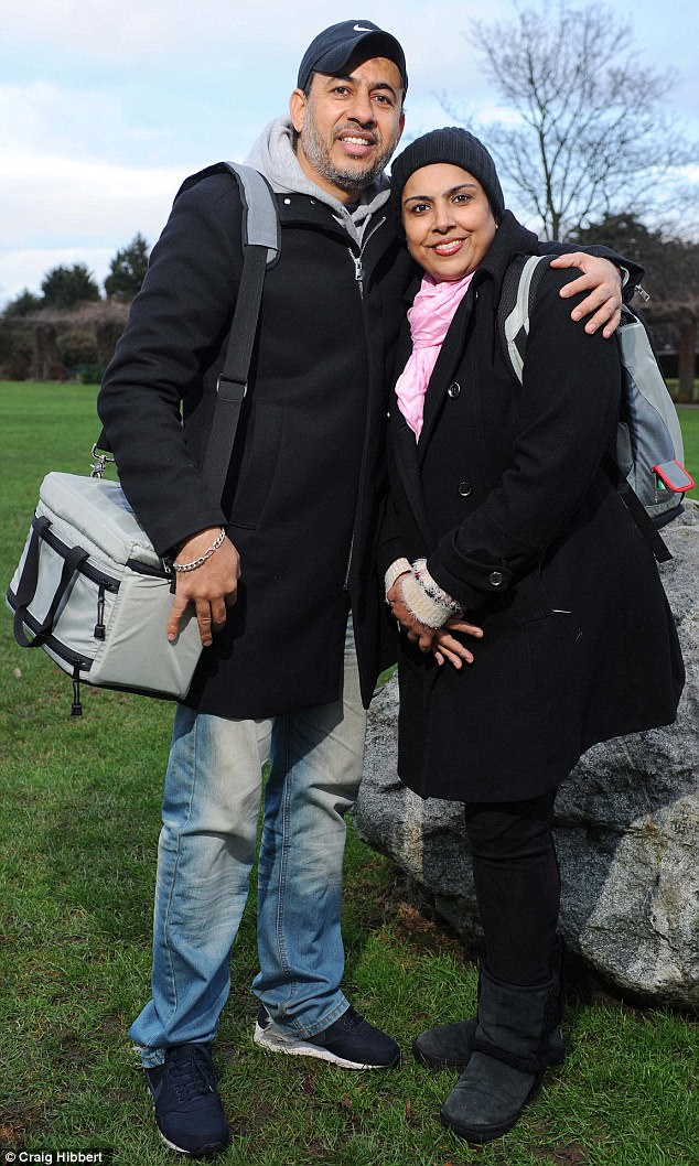 Selwa was too ill to stay alive on a support pump to help her failing heart – and too ill to be given a heart transplant. So with her life ebbing away, her husband Al (pictured with his wife) agreed to his her being given an artificial heart