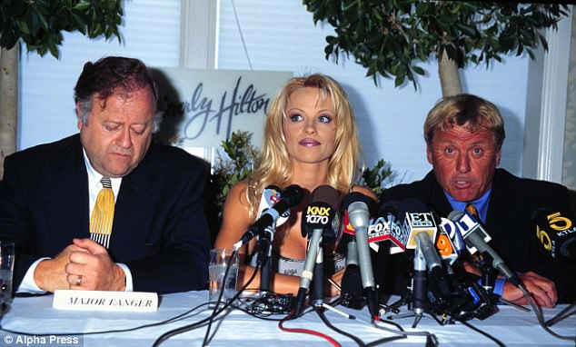Langer (right) 'represented actress Pamela Anderson in a breach of contract lawsuit and won numerous six- to seven-figure verdicts,' the Orange County Register reports