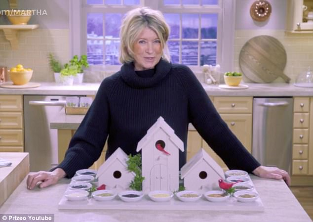 That's a well stocked pantry! Martha Stewart is inviting a member of the public to join her on first ever expedition to the 'Doomsday' Svalbard Global Seed Vault