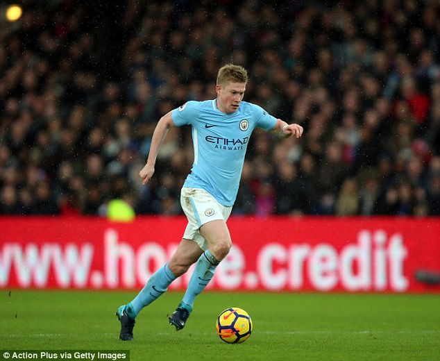 Manchester City's Kevin De Bruyne has been in outstanding form this season