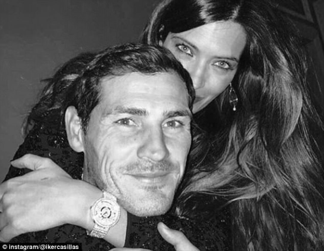 Iker Casillas shared an arty black and white photo of him with his spouse, Sara Carbonero