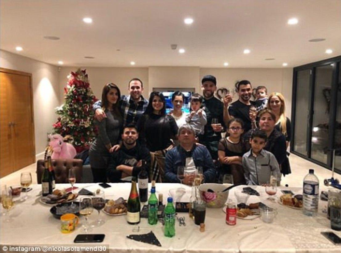Manchester City team-mates Nicolas Otamendi and Sergio Aguero celebrated together